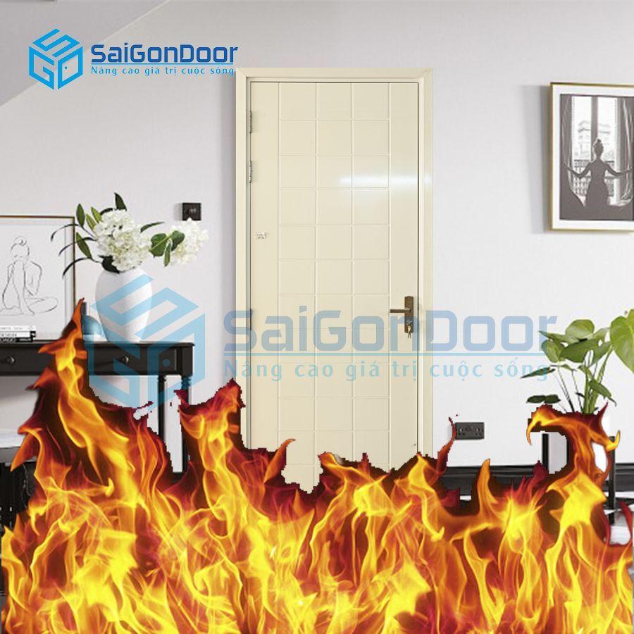 Cửa nhựa chậm cháy